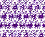 Background with Easter pattern. Seamless Background with Easter Eggs in purple color Stock Photography
