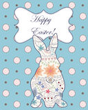 Background with easter rabbit Royalty Free Stock Photography