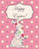 Background with easter rabbit Royalty Free Stock Photos