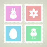 Background with Easter symbols Royalty Free Stock Image