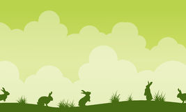 Background easter theme landscape silhouette Stock Images
