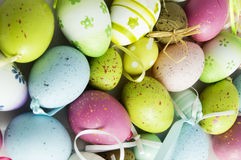 Background of eastern eggs Stock Image