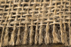 Background from the edge of the burlap close-up Royalty Free Stock Photography