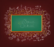 Background with education icons Royalty Free Stock Photo