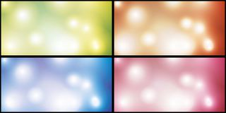 Background with effects of bright bright flashes. A set of substrates for the festive decoration with the effect of blurring and highlights Stock Images