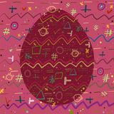 Background and Egg with a cheerful abstract pattern.  vector illustration