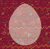 Background and Egg with a cheerful abstract pattern.  royalty free illustration