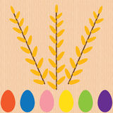 Background with egg and willow tree Royalty Free Stock Photography