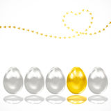 Background with eggs and chicken tracks. royalty free stock image