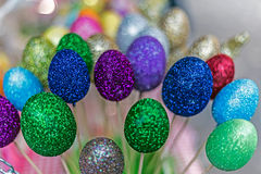 Background with eggs forms decorated stock images