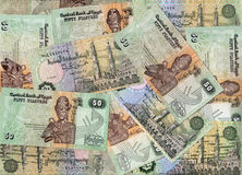 Background of Egyptian 50 piastres bills Stock Photography