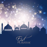 Background for Eid Mubarak Stock Image