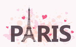 Background with Eiffel Tower Royalty Free Stock Photos