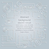 Background electric circuit, vector. Abstract background electric circuit. Vector Royalty Free Stock Images