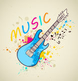 Background with electric guitar Stock Images
