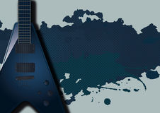 Background with Electric Guitar Stock Image