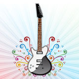 Background with electric guitar Stock Photography
