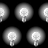 Background with electrical a sphere-form lamps Stock Image
