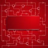 Background of electronic scheme. Stock Photo