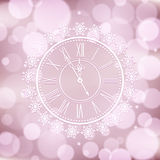 Background with elegant clock Stock Photo