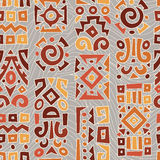 Background with elements of African ornament Stock Images