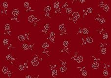 Background with elements in the form of mini roses stock illustration