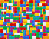 Background of elements the plastic constructor top view Royalty Free Stock Photography
