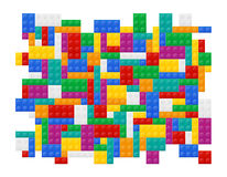 Background of elements the plastic constructor top view Royalty Free Stock Images