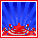Background with elements of USA flag Royalty Free Stock Image