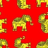 Background with elephants Stock Image