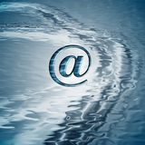 Background with email symbol Stock Image