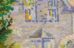 Background, embroidery, outline, needlework, texture Royalty Free Stock Photos