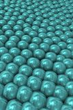 Background with emerald tight pearls. Representation of overpopulation and social pressure Stock Photo