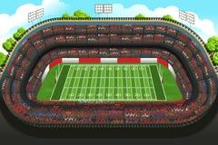 Background of an Empty American Football Stadium Stock Image