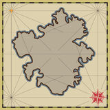 Background with an empty map royalty free illustration