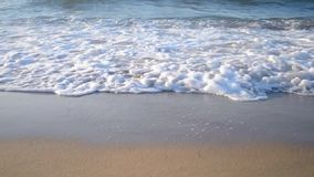 Background empty the sand and the waves dashing on it stock footage