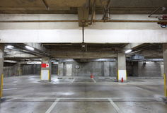 Empty Space in a Parking Lot Royalty Free Stock Photography