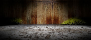 Background empty street and concrete wall Royalty Free Stock Photography
