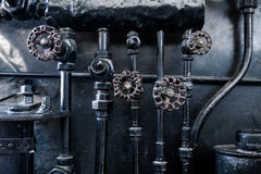 Background of engine room detail in a steam Stock Photography