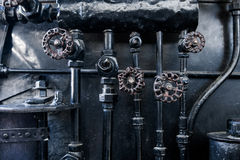 Background of engine room detail in a steam Royalty Free Stock Images