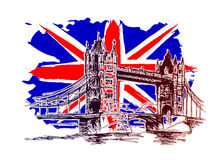 Background with England motive. Vector background with England motive Stock Photo