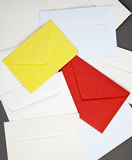 Background of  envelopes. Stock Images