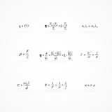 Background with equations and formulas Stock Image