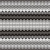 Background with ethnic motifs. Seamless pattern in black and white Royalty Free Illustration