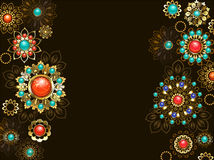 Background with ethnic ornaments Royalty Free Stock Photo