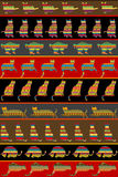 Background with ethnic ornaments patterned cats Royalty Free Stock Photos