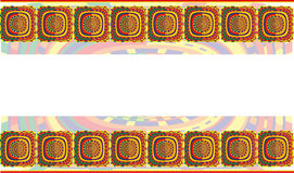 Background with ethnic south patterns Royalty Free Stock Photos