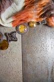 Background with ethnic textile Stock Photo
