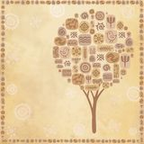 Background an ethnic tree with a place for the text Royalty Free Stock Photos
