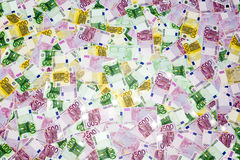 Background from euro. Pean currency, 80 thousand euro Royalty Free Stock Image